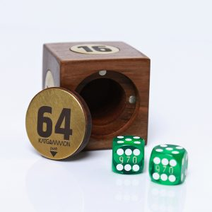 Wooden cube & dice box