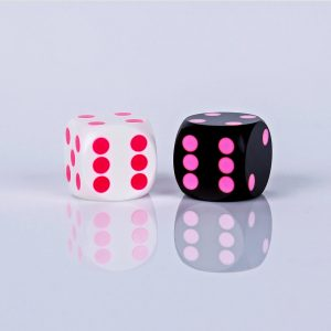 Black with pink dots & white with pink dots