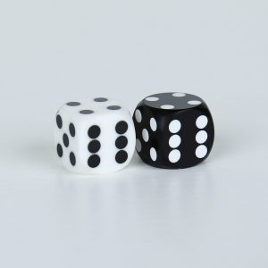 Precision dice calibrated White Black and White