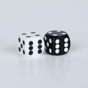 Precision dice calibrated White Black and White