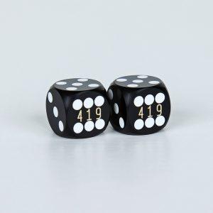 Precision dice calibrated black coder