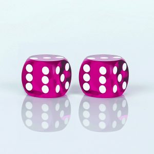 Precision dice calibrated Purple - transparent