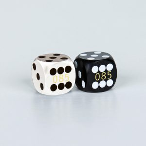 Precision dice calibrated White and black coder