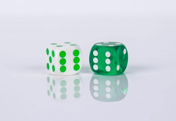 White with Green dots - opaque