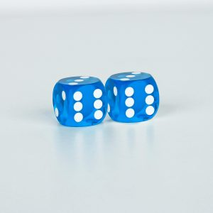 Precision dice calibrated light blue