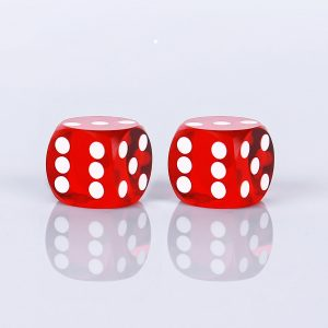 Precision dice calibrated light red