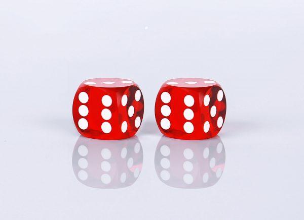 Precision dice calibrated light red