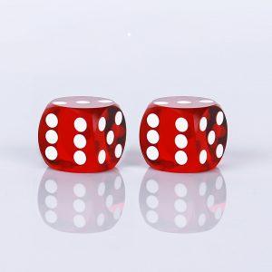 Precision dice calibrated dark red – transparent