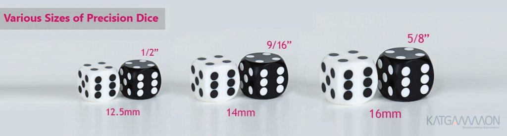 precision dice size