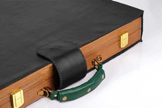 backgammon bGenuine leather bag